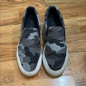 Restricted Camo slip on chunky shoes!